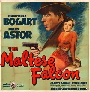 Maltese Falcon lobby card.