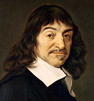 "René Descartes(1596-1650), French Enlightenment philosopher who coined the famous phrase ""I think, therefore I am'."