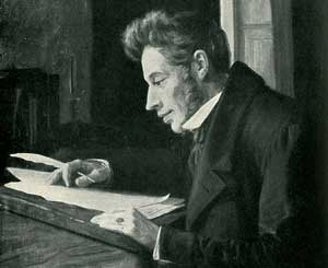 Søren Kierkegaard (1813-1855), Danish intellectual considered to be the first existentialist philosopher.