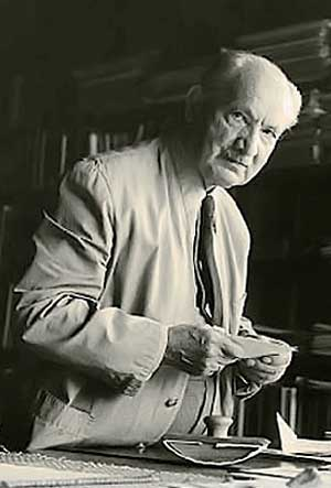 Martin Heidegger (1889-1976), German philosopher who developed existentialism and originated the concept of existence as being 'thrown' into the world.