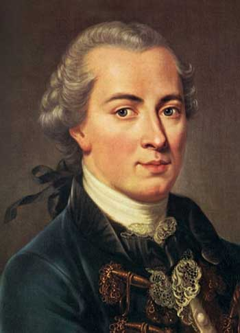 Immanuel Kant (1724-1804), German Enlightenment philosopher and ethicist.