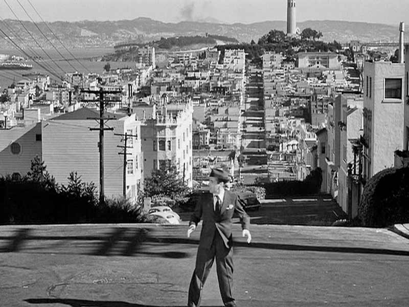 San Francisco as a set offered vertiginous, roller-coaster backdrops that heightened a sense of tension and nightmarish flight from danger.