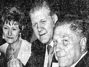 Irene and Frank Sheeran with Jimmy Hoffa (far right).