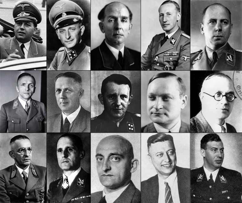 Rogue's gallery of Nazis at the Wannsee conference.
