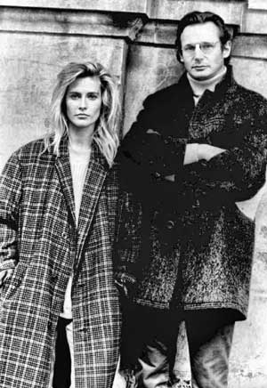 Alison Doody as Siobhan Donovan and Liam Neeson as Liam Docherty.