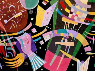 Detail from Wassily Kandinsky (1866-1944), Composition X (1939).